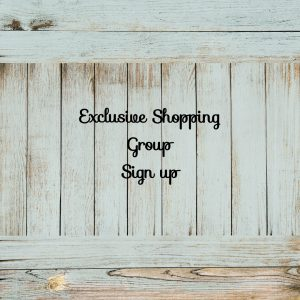 Exclusive Shopping Group Sign Up